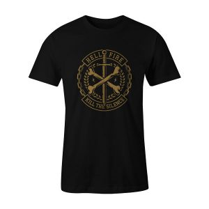 Cross Bones T Shirt Black