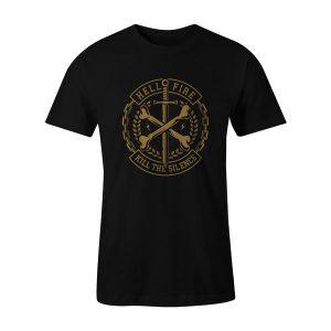 Cross Bones T Shirt Black