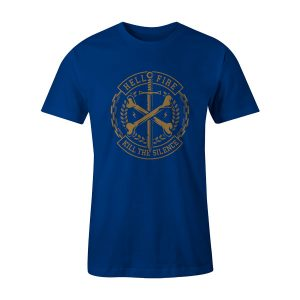 Cross Bones T Shirt Royal