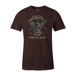Custom Engine T Shirt Brown