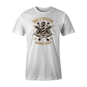 Daily Special Barber Shop T Shirt White