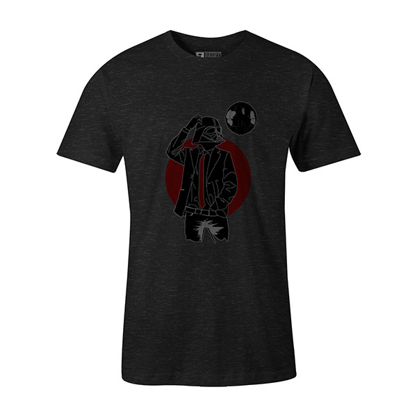 Darth Dapper T shirt heather graphite