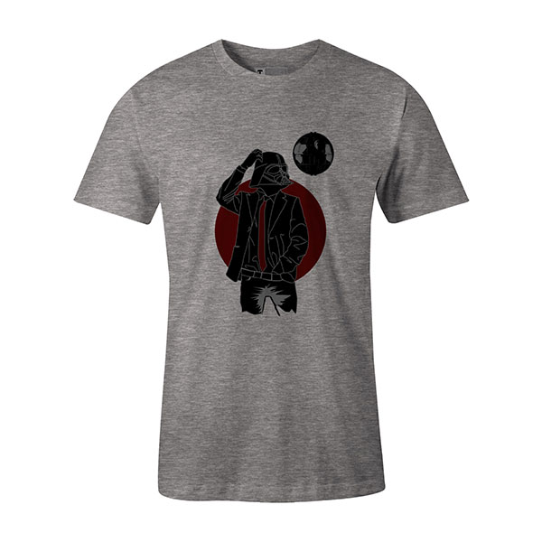 Darth Dapper T shirt heather grey