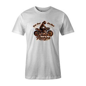 Death Machine T shirt white