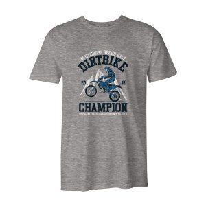 Dirtbike Champion T Shirt Heather Grey