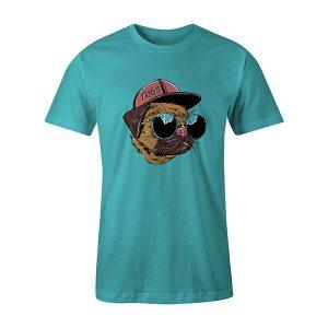 Dogs T shirt aqua
