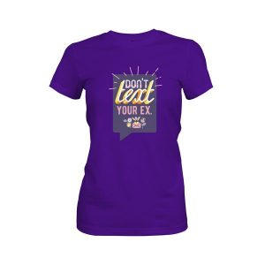 Dont Text Your Ex T Shirt Purple Rush