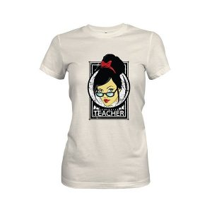 Exclusive Teacher T Shirt ivory