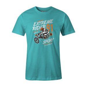 Extreme Rider T Shirt Aqua 1