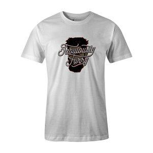 Fabulously Furry T shirt white
