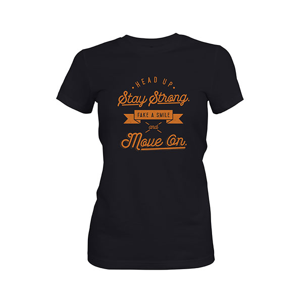 Fake A Smile And Move On T shirt black