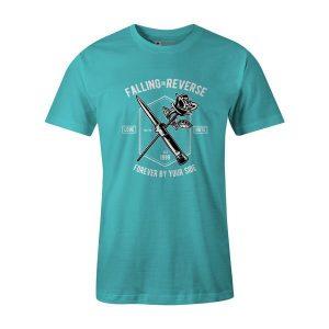 Falling In Reverse T Shirt Aqua