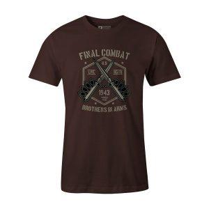Final Combat T Shirt Brown
