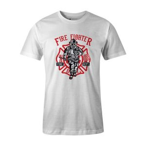 Fire Fighter T Shirt White