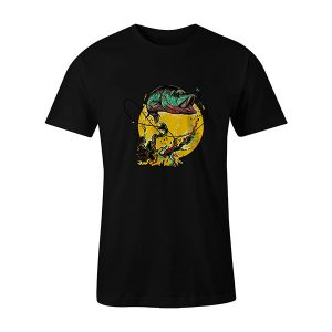 Fly Fishing T shirt black