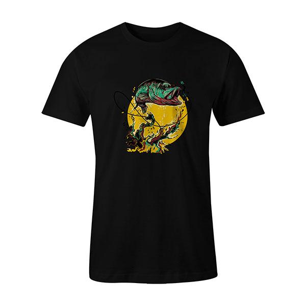 Fly Fishing T shirt black