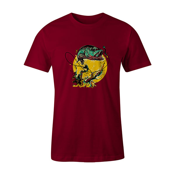 Fly Fishing T shirt cardinal