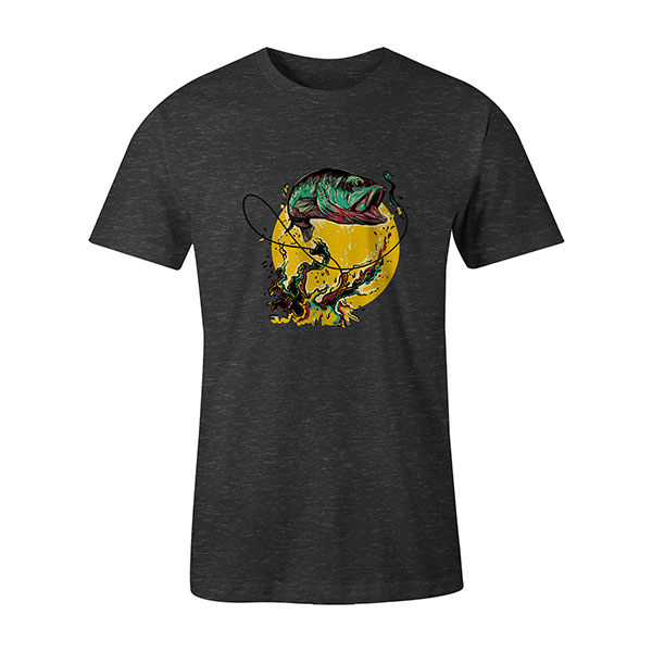Fly Fishing T shirt heather charcoal