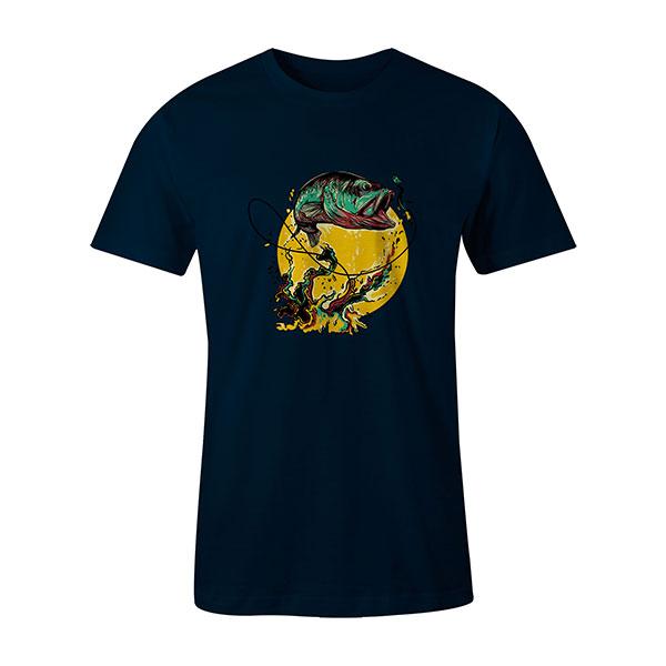 Fly Fishing T shirt navy