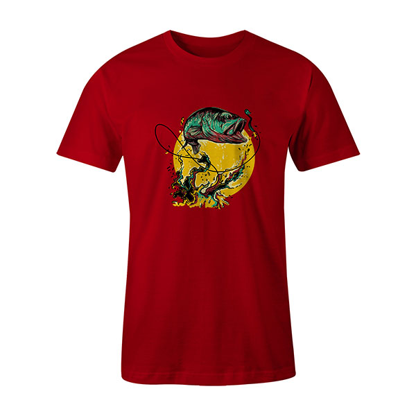 Fly Fishing T shirt red
