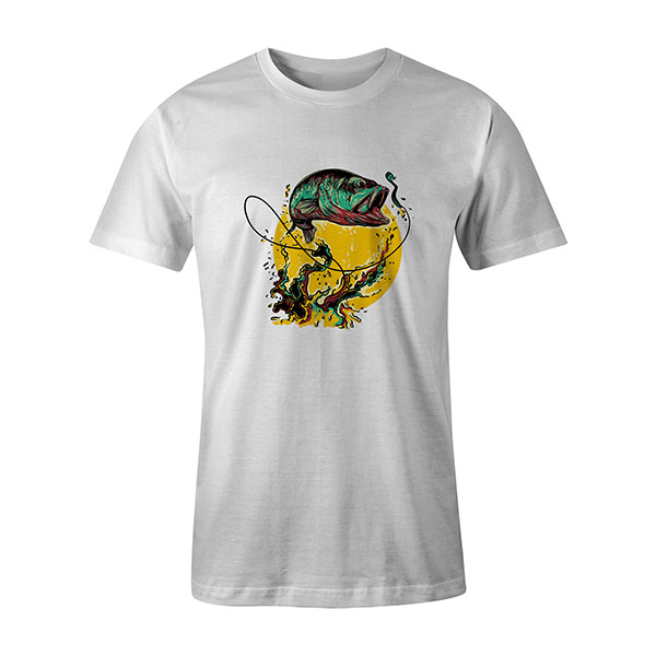 Fly Fishing T shirt white