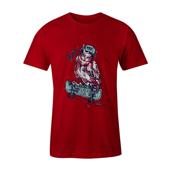 Follow The Black Owl T shirt red