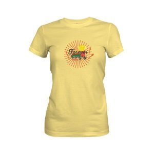 Forever Hungry T Shirt Banana Cream