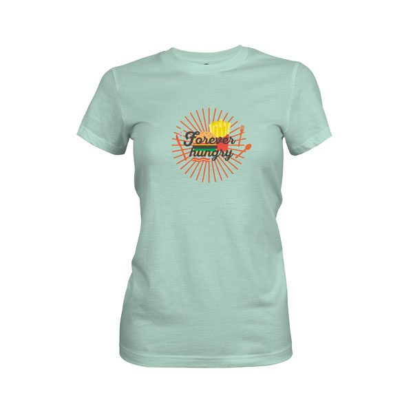 Forever Hungry T Shirt Mint