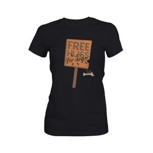 Free Hugs For Dogs T Shirts Black