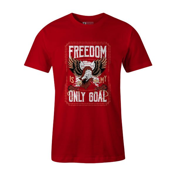 Freedom Is My Goal T Shirt Red