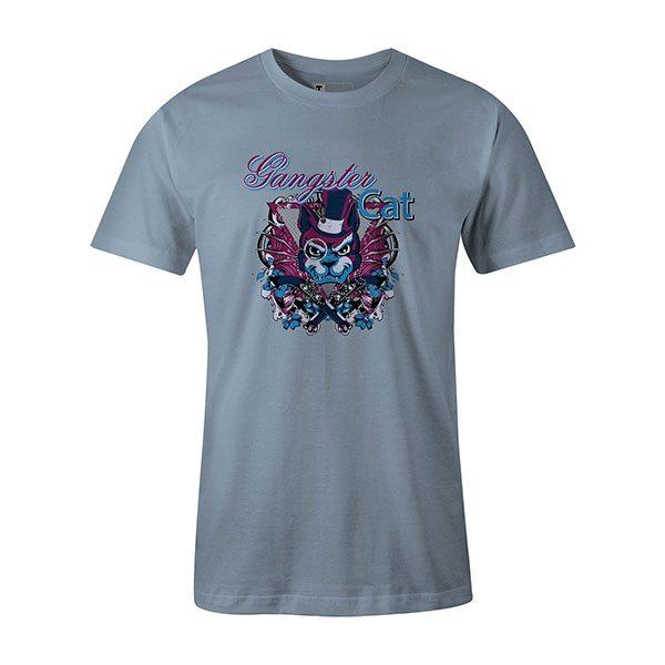 Gangster Cat T shirt baby blue