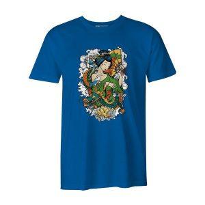 Geisha I T Shirt Turquoise