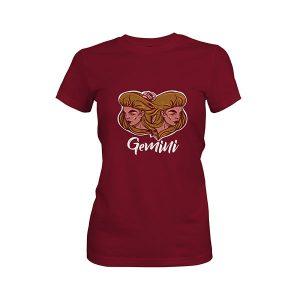 Gemini T shirt maroon