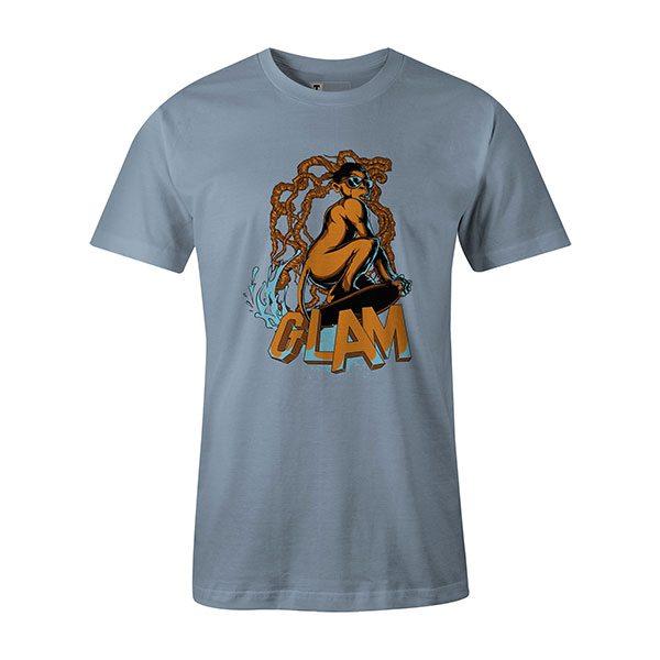 Glamour Monkey T shirt baby blue