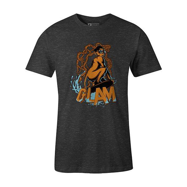 Glamour Monkey T shirt heather charcoal