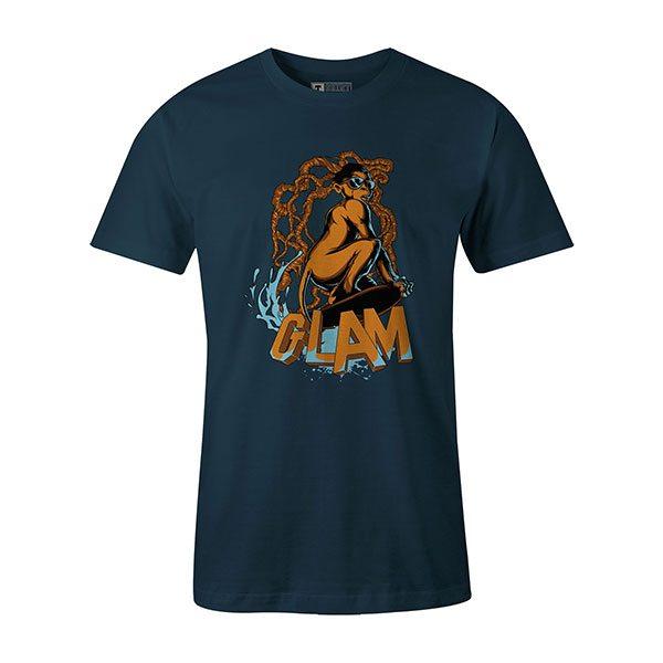 Glamour Monkey T shirt indigo