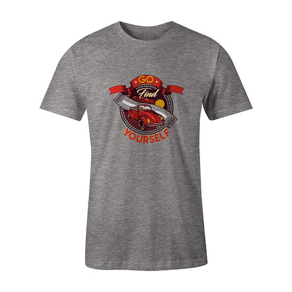Go Find Yourself T shirt heather grey