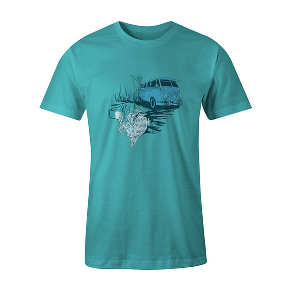 Go Fishing T shirt aqua