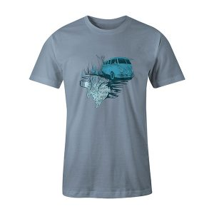 Go Fishing T shirt baby blue