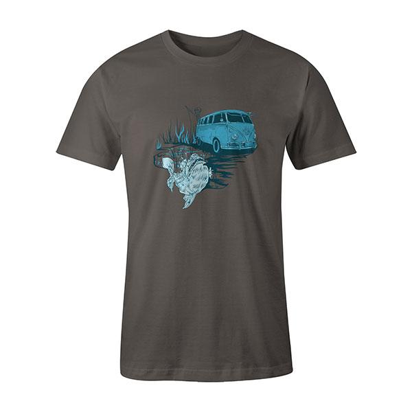 Go Fishing T shirt charcoal