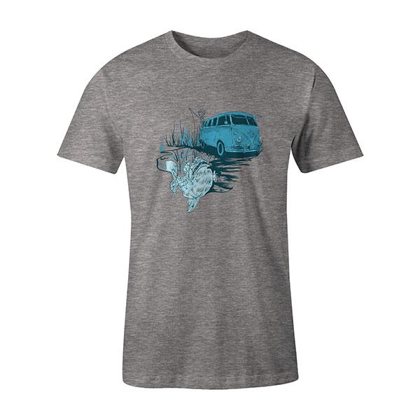 Go Fishing T shirt heather grey