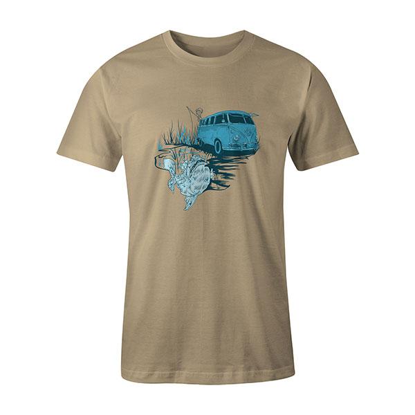 Go Fishing T shirt natural