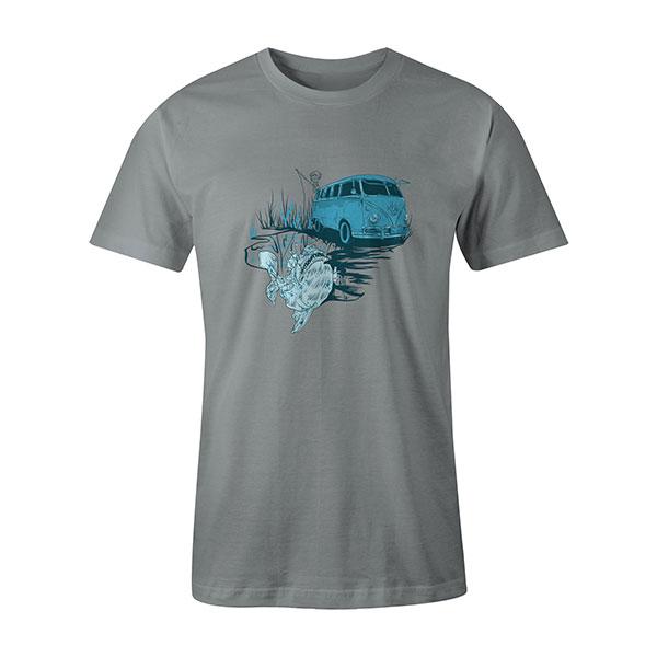 Go Fishing T shirt silver