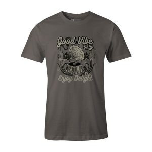 Good Vibe Only T Shirt Charcoal