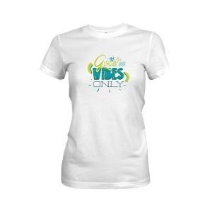 Good Vibes Only T Shirt White