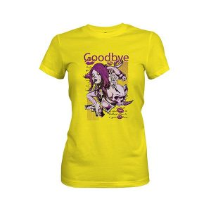 Goodbye T Shirt vibrant yellow