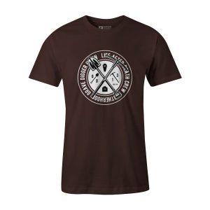 Grave Digger T Shirt Brown