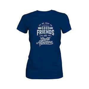 Great Adventure T shirt cool blue