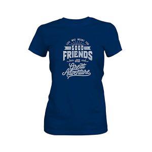 Great Adventure T shirt cool blue