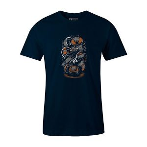 Headphones T shirt navy